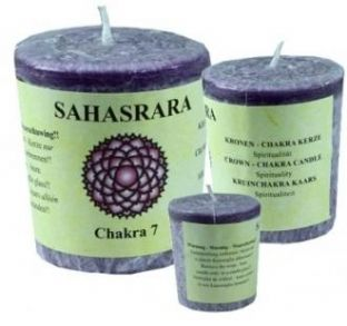 Chakra Votive Candle - 7th Chakra - Crown - Purple - Patchouli, Labdanum & Frankincense